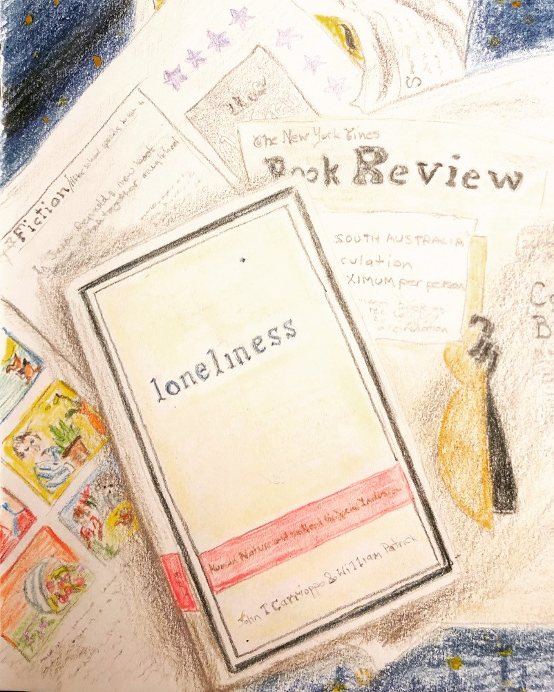Sketch of the book 'Loneliness' by Anne Marie Sinclair