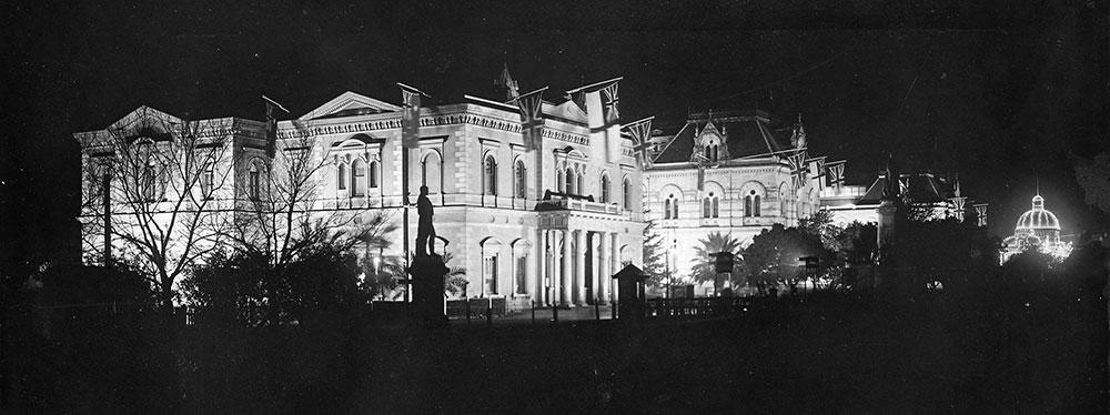 Lights along North Terrace, Adelaide [PRG 280/1/26/43]