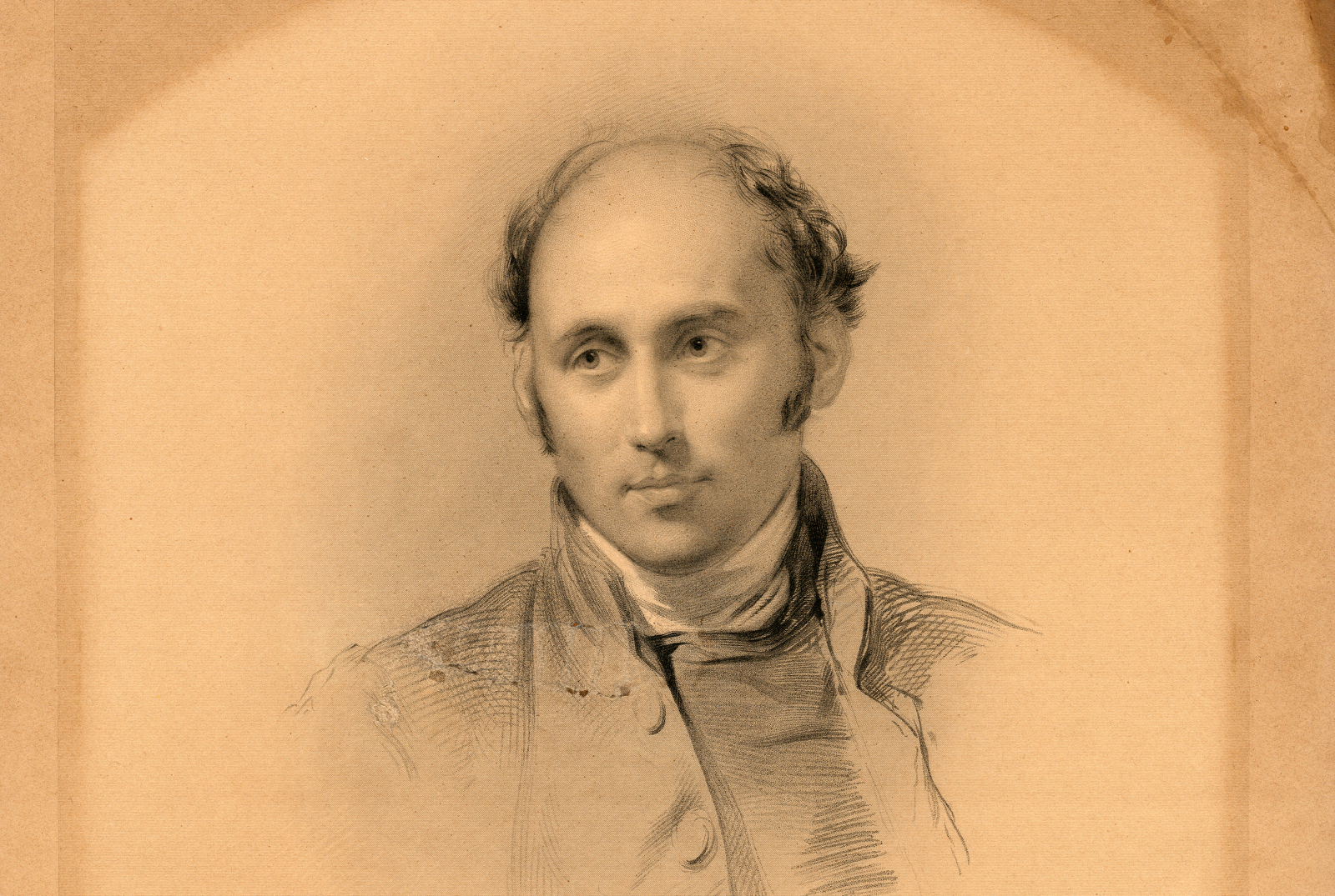 Lithograph of a drawing of the 45 year old Bishop Augustus Short by Sir George Richmond 1847 [B 7939/2]