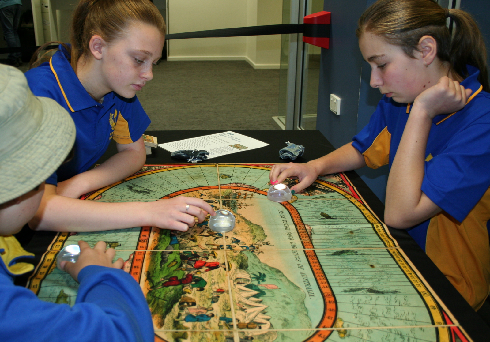 Students engaging in the Opposite of bored program at the State Library of SA