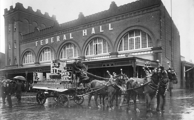Horse-drawn trade display, 1912 [PRG 280/1/14/587]