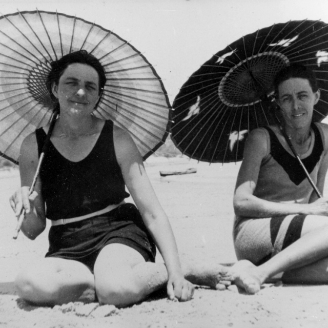 Two women on a beach [B 52679]