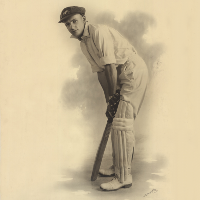 Portrait photograph of Don Bradman [PRG 682/16/97]