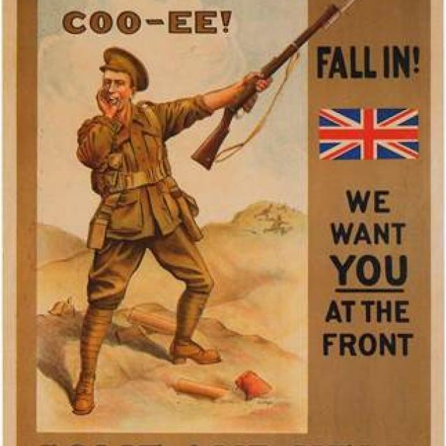 South Australians COO-EE! Fall In! We want you at the front come and help enlist at once.