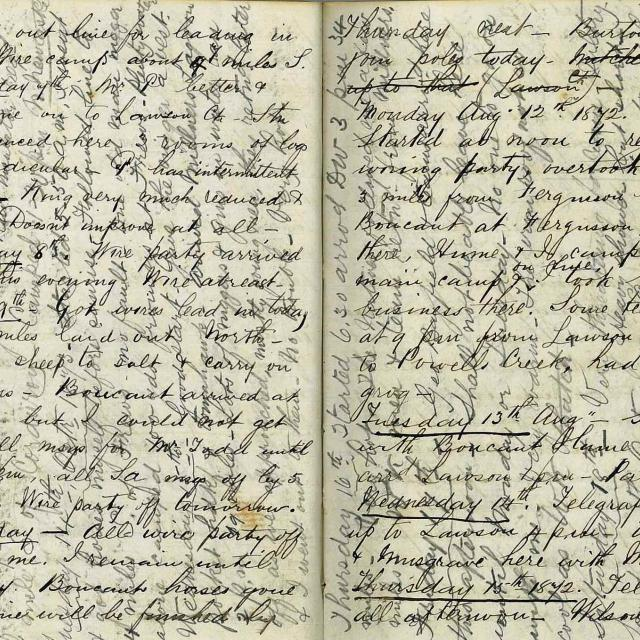 Page from an original diary kept by Charlie Johnstone on the Overland Telegraph Line [D 7265]
