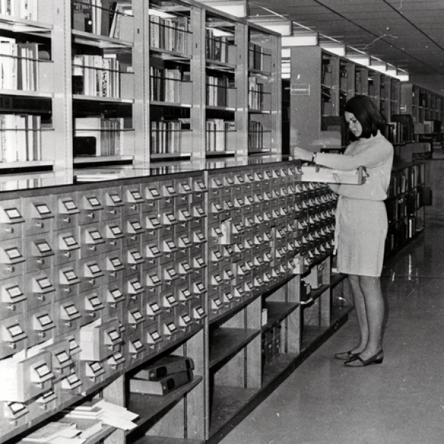 Catalogue card index Bastyan Wing, 1967 [B72589/6]